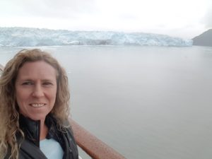 Getting a selfie with Hubbard Glacier