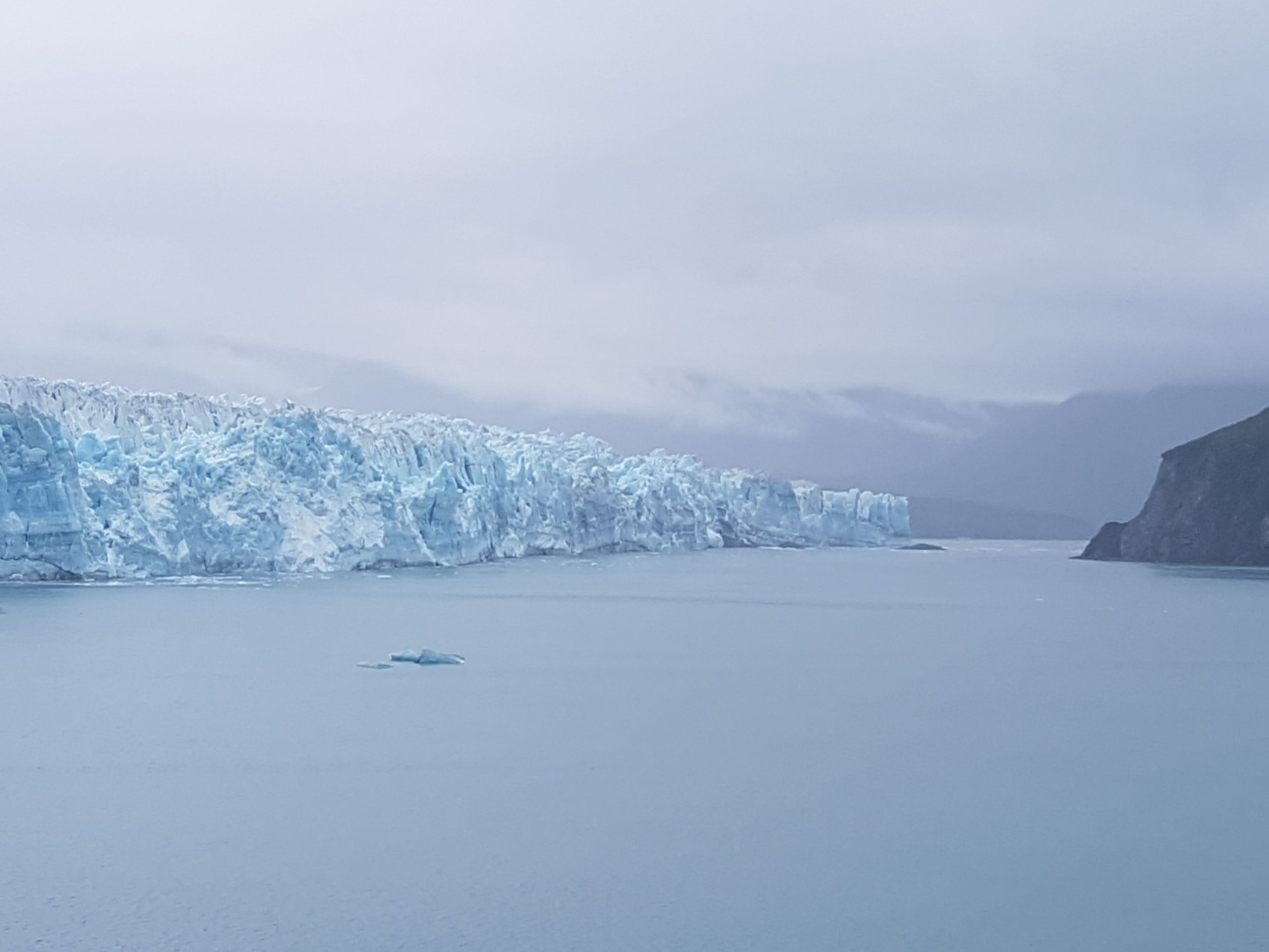 Hubbard Glacier from half mile out