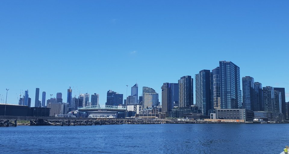 view of melbourne city from the water