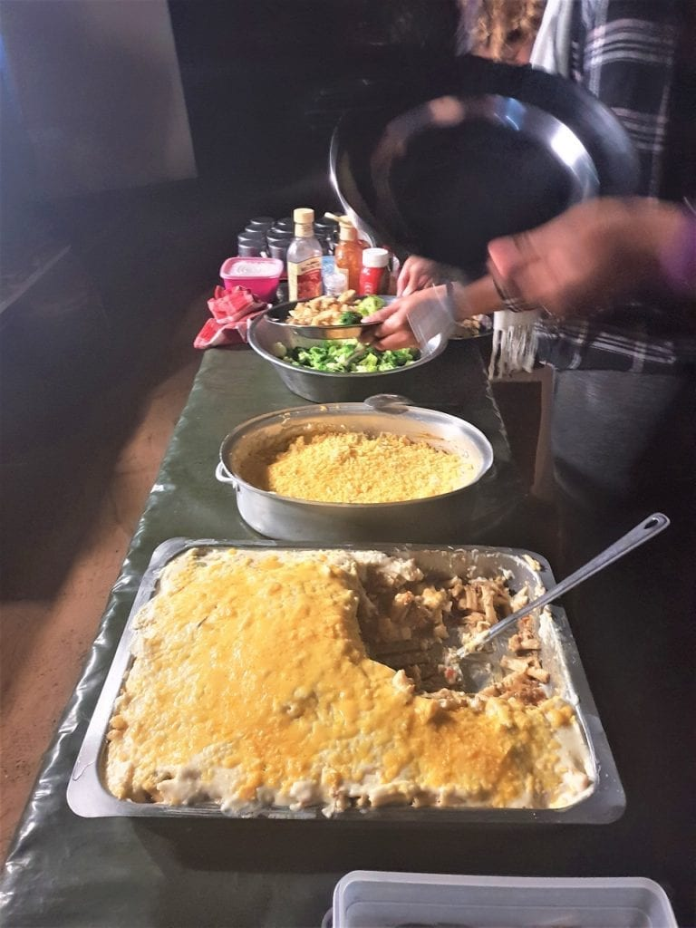 meal time with Nomad Africa